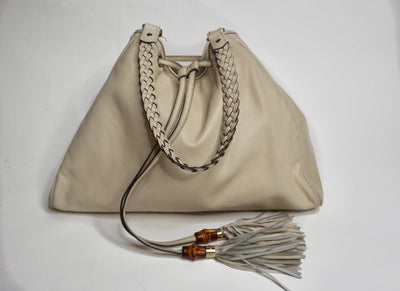Gucci Leather Drawstring Bag - Sheree & Co. Designer Consignment