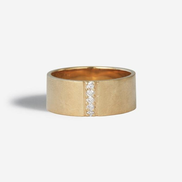 Linear Pave Diamond Ring