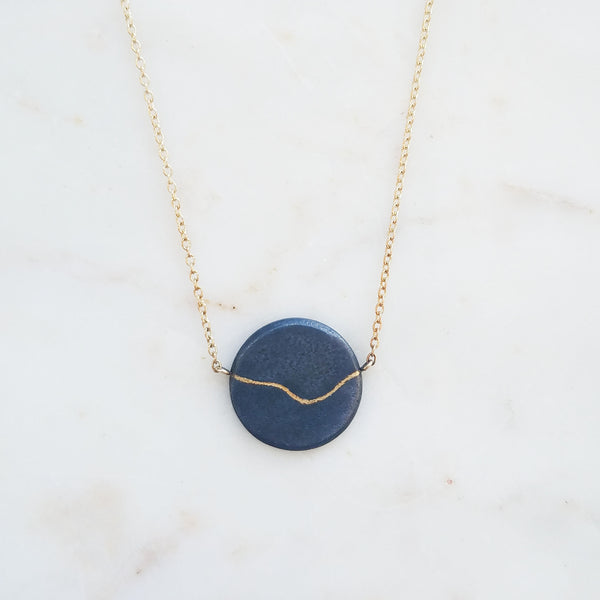 Inlay Coin Necklace