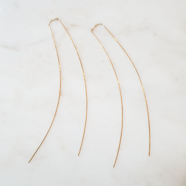 Extra Long Thread-Thru Earrings