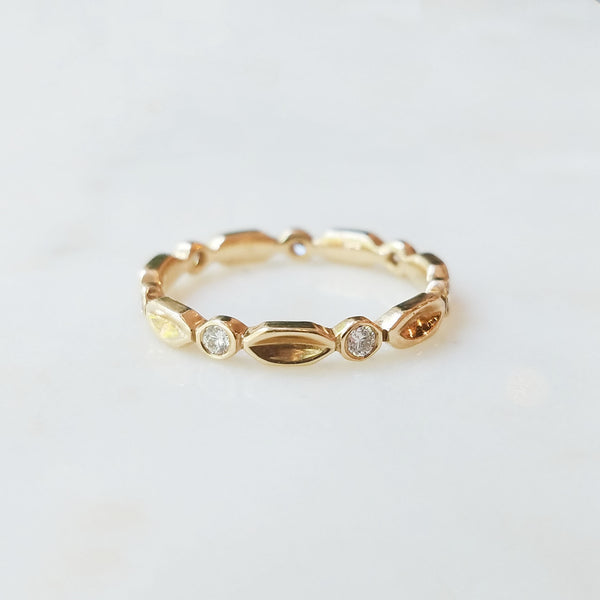 Laurel Diamond Eternity Ring