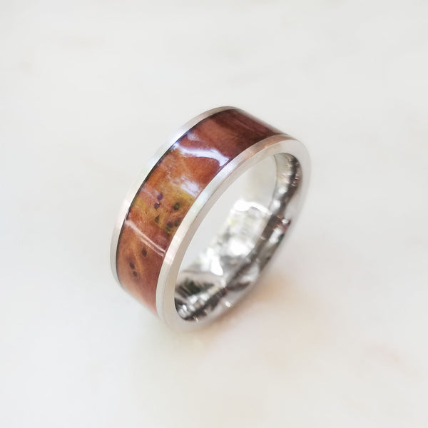 White Gold and Hardwood Band