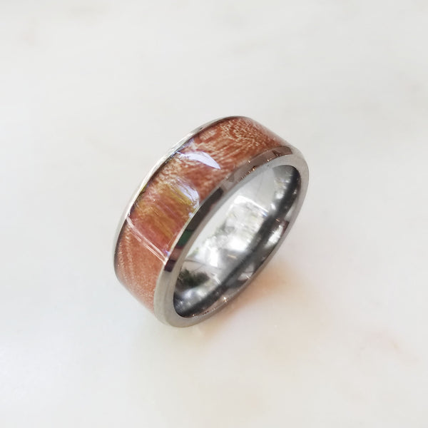 Titanium and Hardwood Band