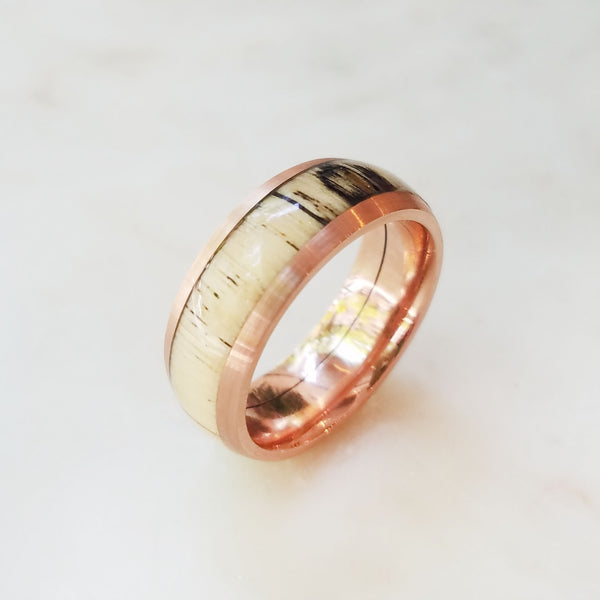 Rose Gold and Hardwood Ring