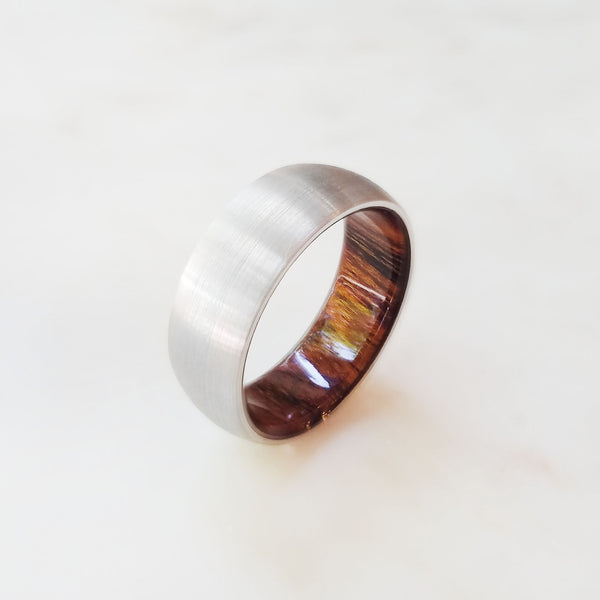 Stainless Steel and Hardwood Sleeve Band