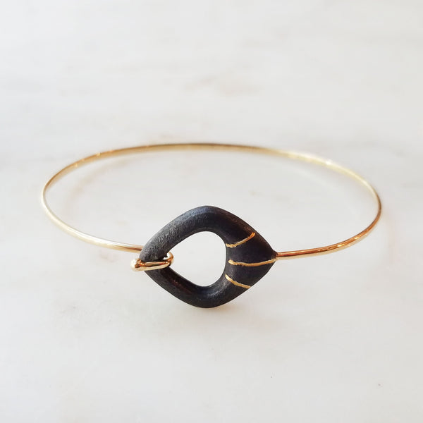 Gold Inlay Freeform Bracelet