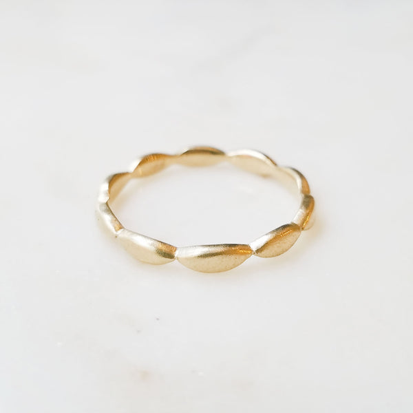 Gold Wave Stack Ring