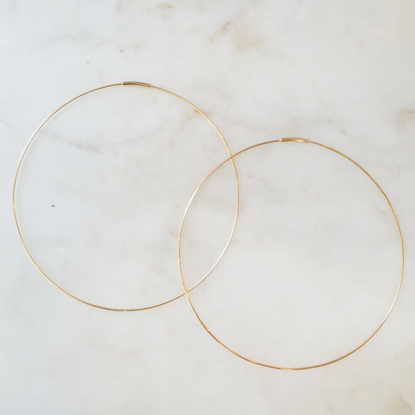 Large Endless Hoop Earring