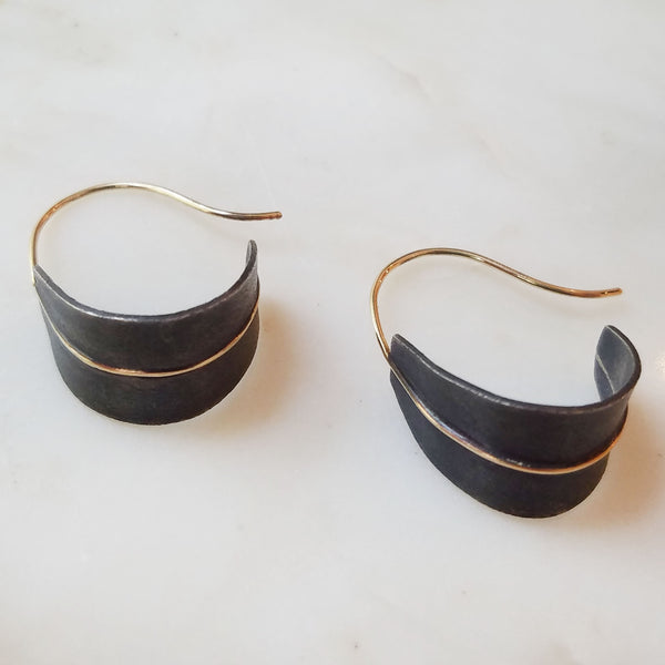 Small Shield Hoop Earrings