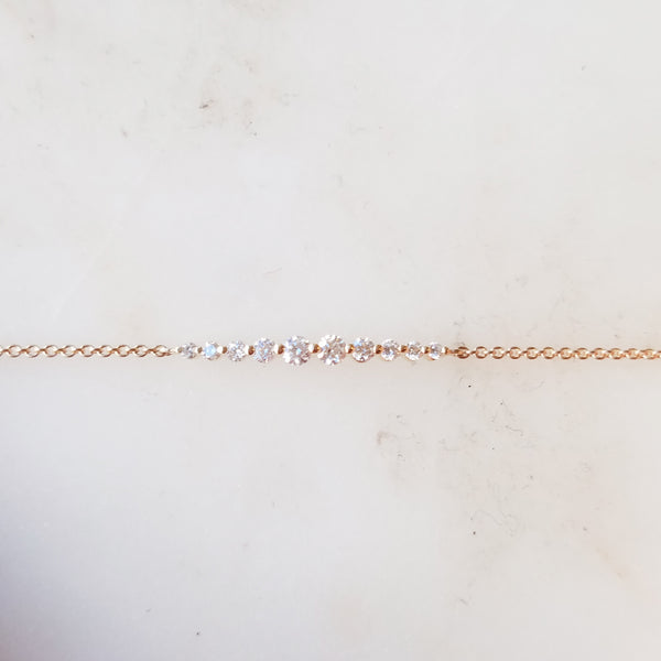 Petite Graduated Diamond Bracelet
