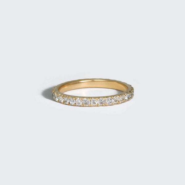 2mm Pavé Diamond Eternity Band