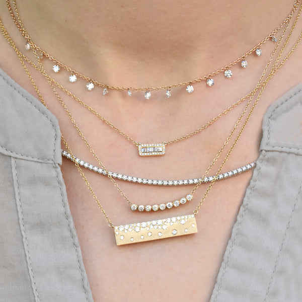 Celestial Diamond Bar Necklace