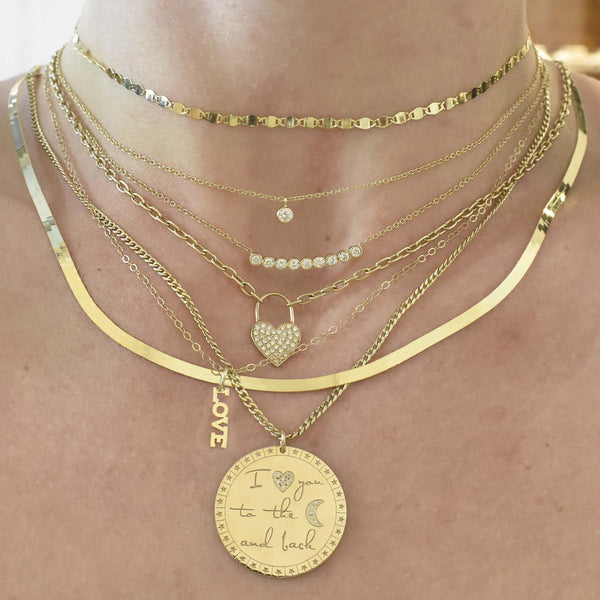 I Love You To The Moon & Back Mantra Necklace