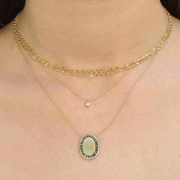Dainty Diamond Drop Necklace