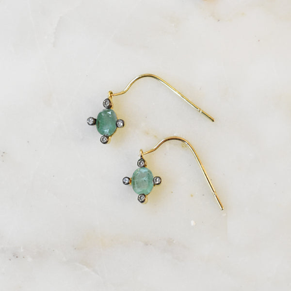 Starlight Emerald Earrings