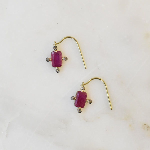 Starlight Pink Sapphire Earrings