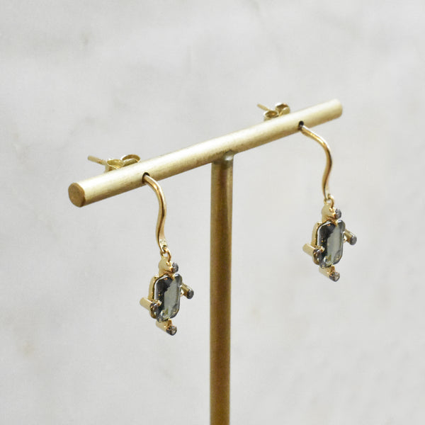 Starlight Blue-Grey Sapphire Earrings
