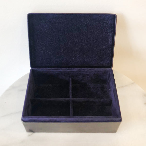 Large Genuine Leather Jewelry Box