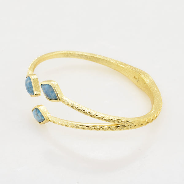 Branched Apatite Cuff Bracelet