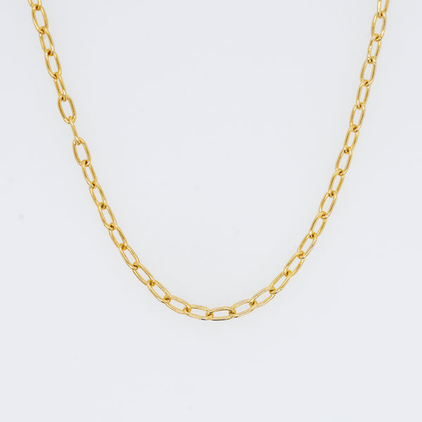Antonia Long Oval Link Chain