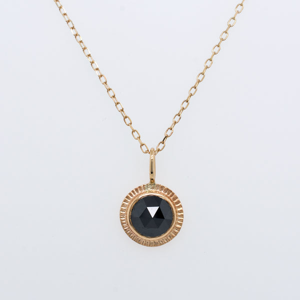 Black Diamond Burst Necklace