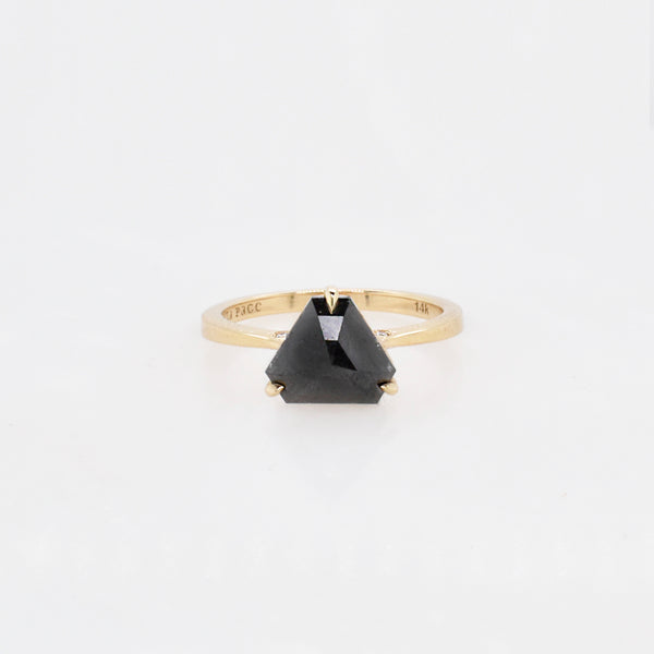 Black 1.85ct Triangle Diamond Engagement Ring