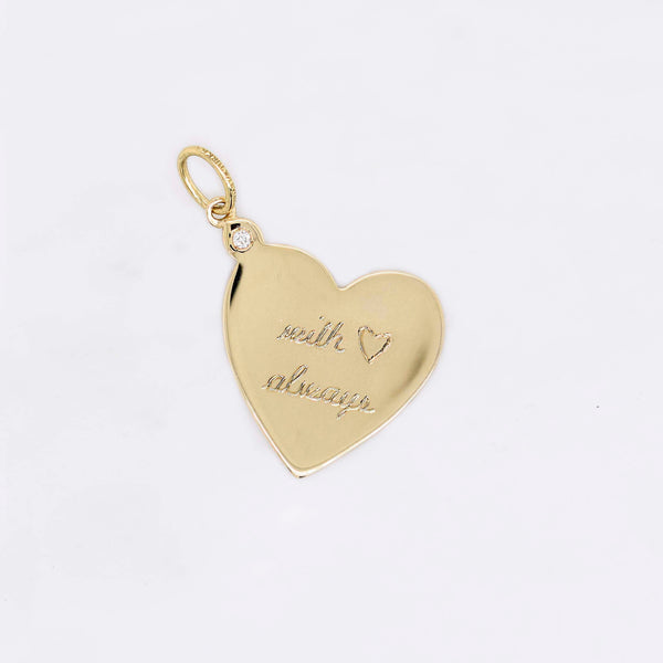 With Love Always Heart Charm