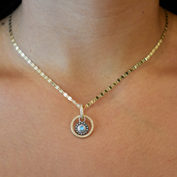 Extra Small Pavé Circle Charm