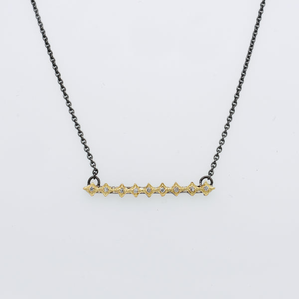 Crivelli Diamond Bar Necklace