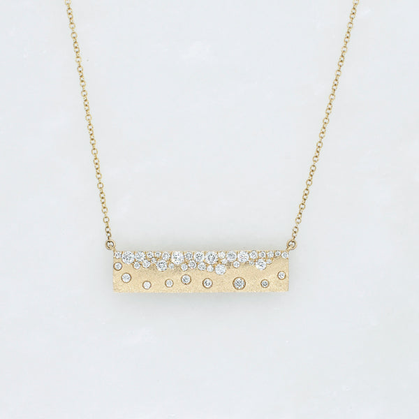 Galaxy Diamond Bar Necklace