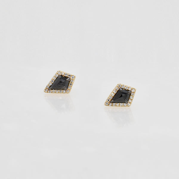 Black & White Diamond Kite Studs