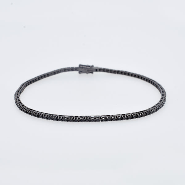 Black Diamond Blackened Gold Tennis Bracelet