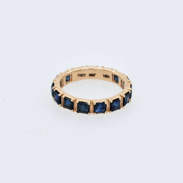 Princess Cut Sapphire Eternity Band