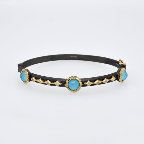 Old World Turquoise and Diamond Bracelet