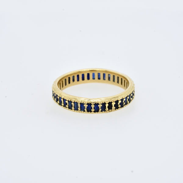 Baguette Sapphire Eternity Band
