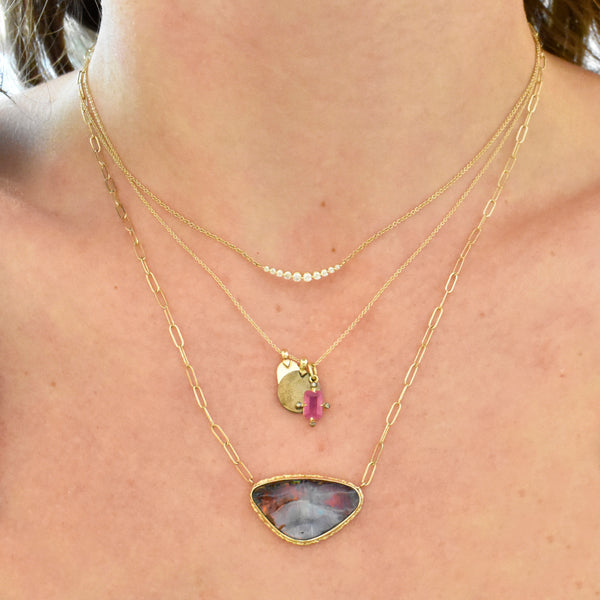 Asymmetrical Boulder Opal Necklace