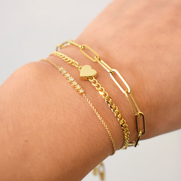 Hollow Paperclip Chain Bracelet
