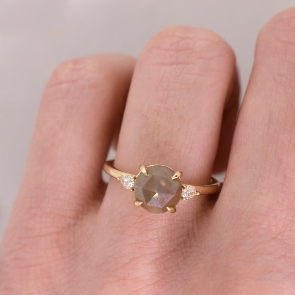 Nicolette Rose Cut Opaque Diamond Ring
