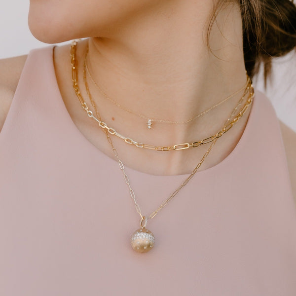 Petite Geometric Diamond Necklace