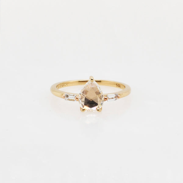 Jessica Rose-Cut .70ct Pear Diamond Engagement Ring