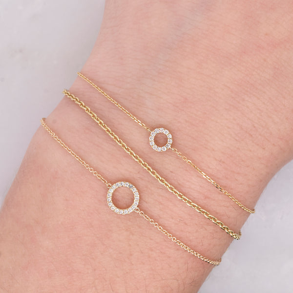 Compass Diamond Circle Bracelet