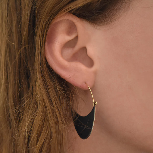 Large Flat Crescent Hoops