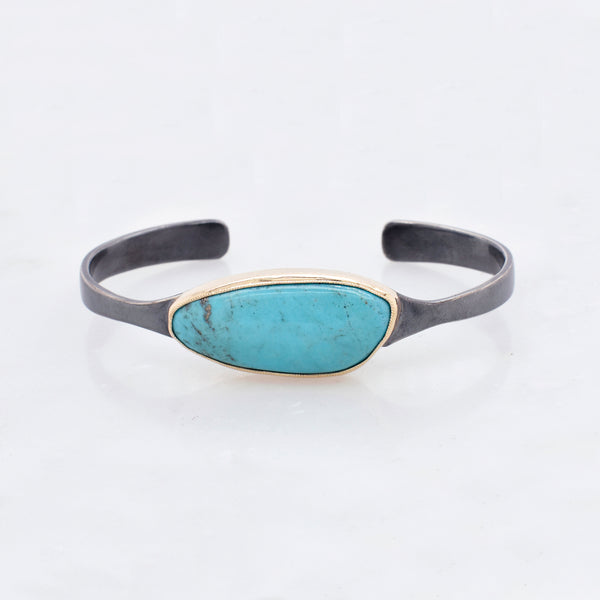 Asymmetrical Turquoise Cuff