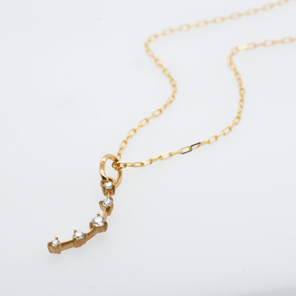 Petite Diamond Crescent Charm Necklace