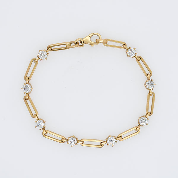 Phoebe Diamond Chain Bracelet