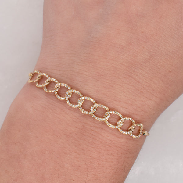 White Diamond Link Bracelet