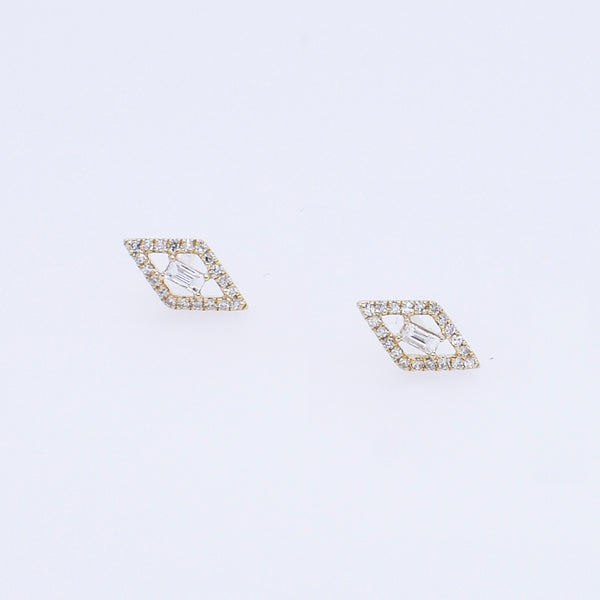 Diamond Marquise Shaped Studs