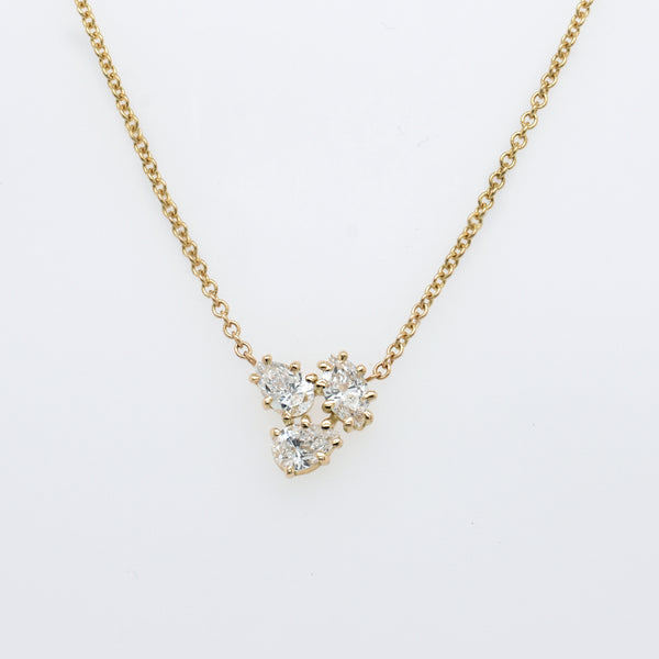 Carina Diamond Cluster Necklace