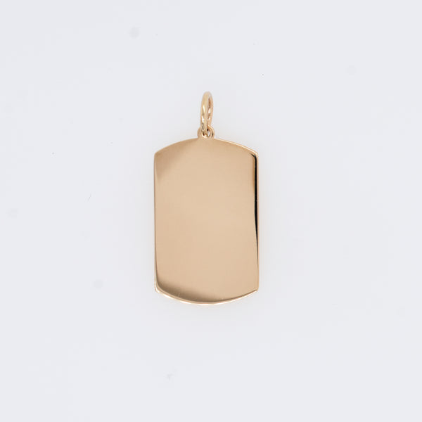 Engravable Dog Tag Charm