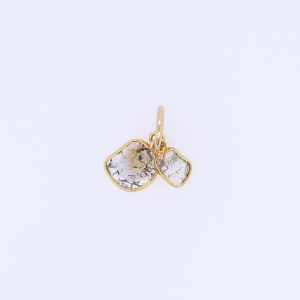 18k Dual Diamond Light Charm